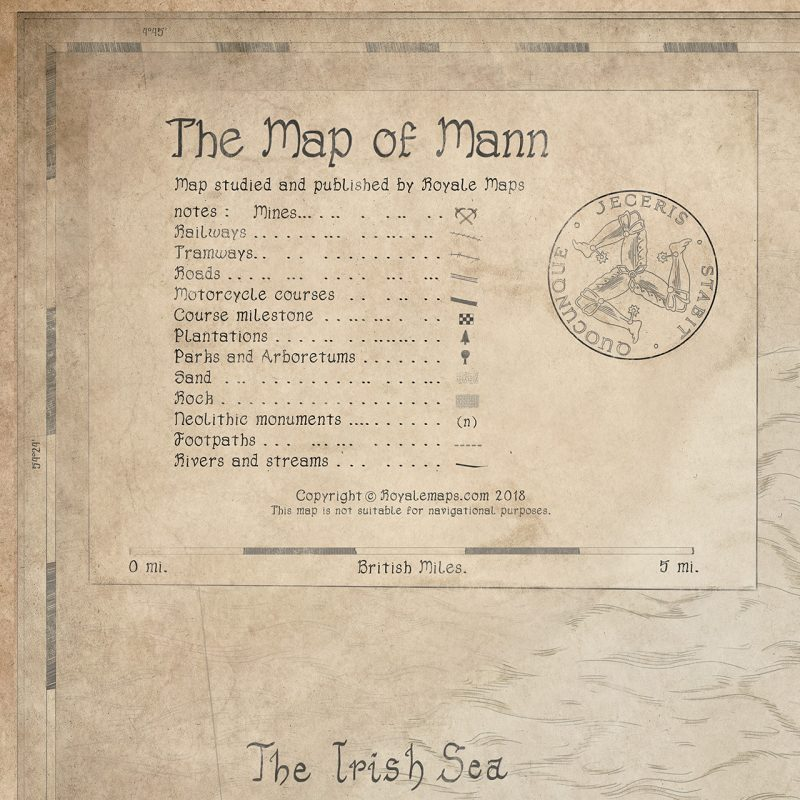 Isle of man map notes.