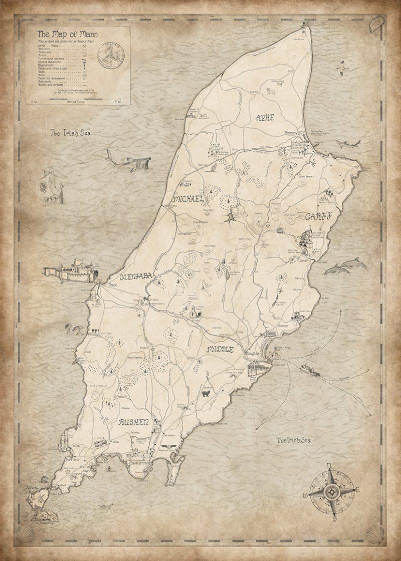 Isle of Man Map Print