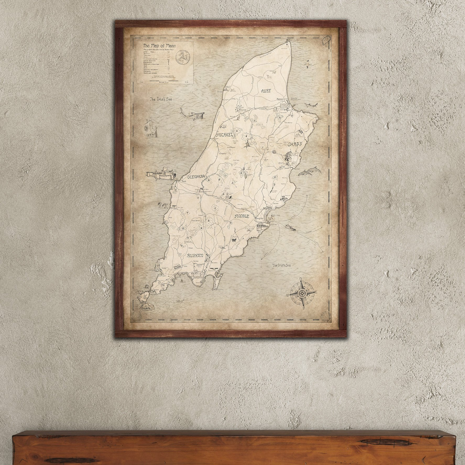 Print Map Of Ireland.Map Of Mann Royale Maps