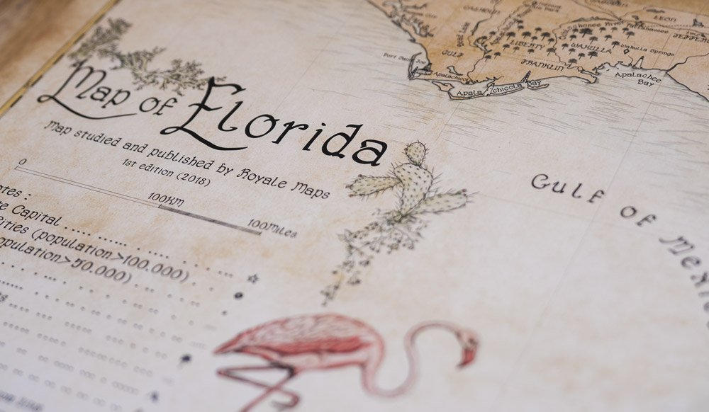 Detail Map Of Florida.Completing The Map Of Florida Royale Maps
