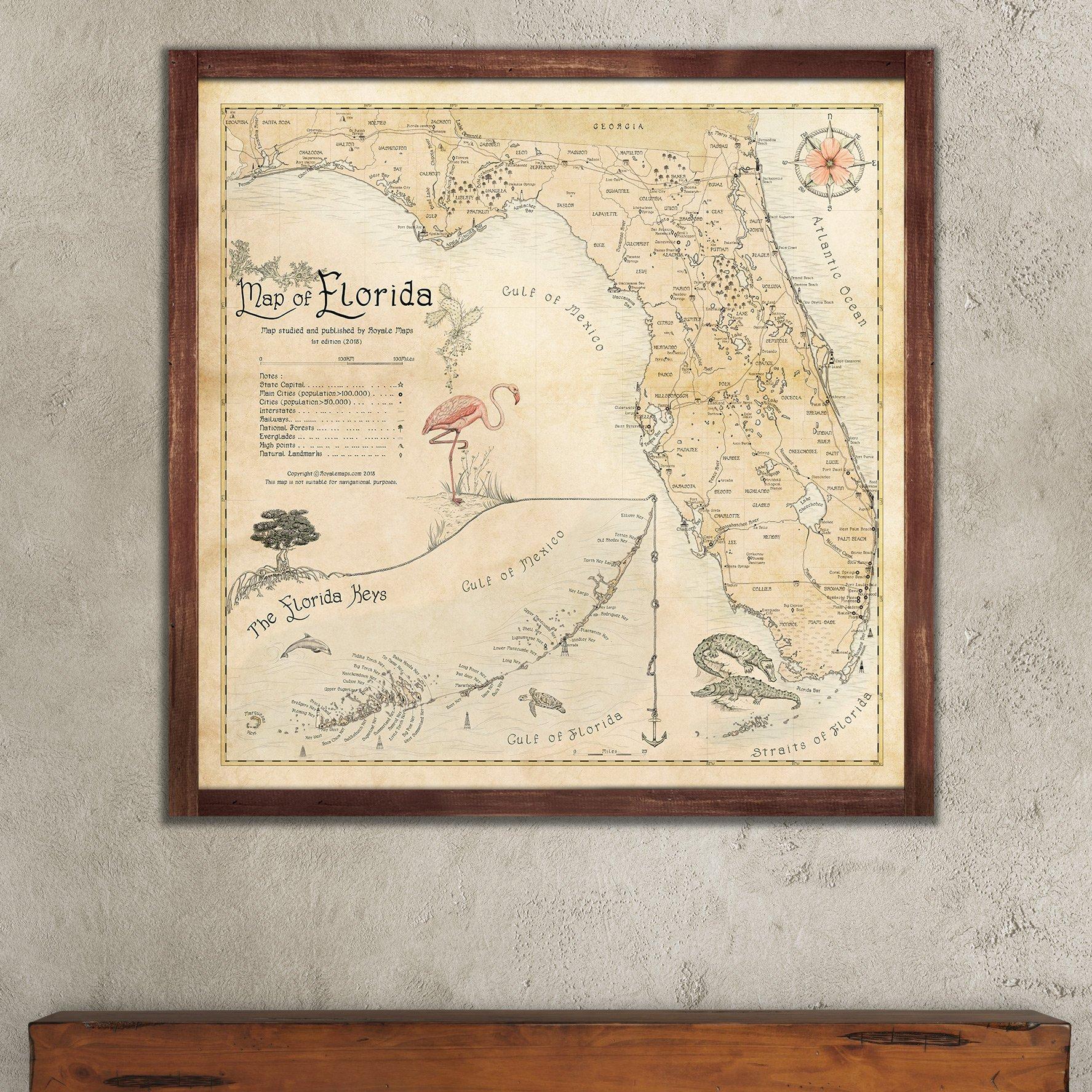 Print Map Of Florida.Map Of Florida Royale Maps