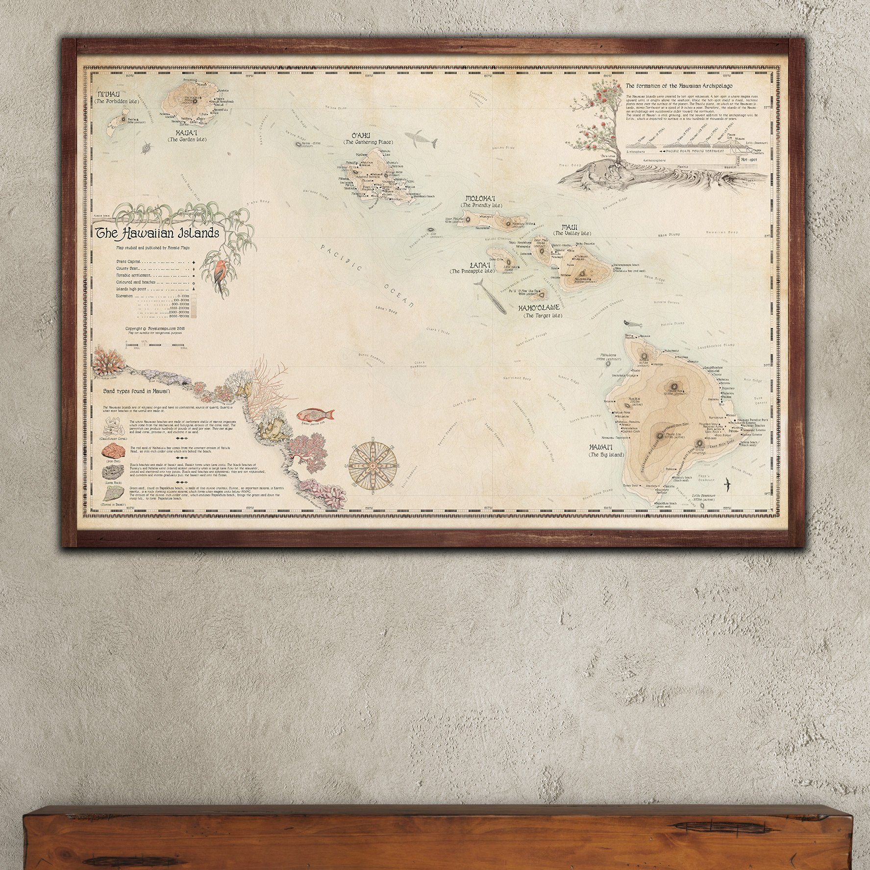 graphic relating to Printable Map of Hawaiian Islands named HAWAIIAN ISLANDS MAP