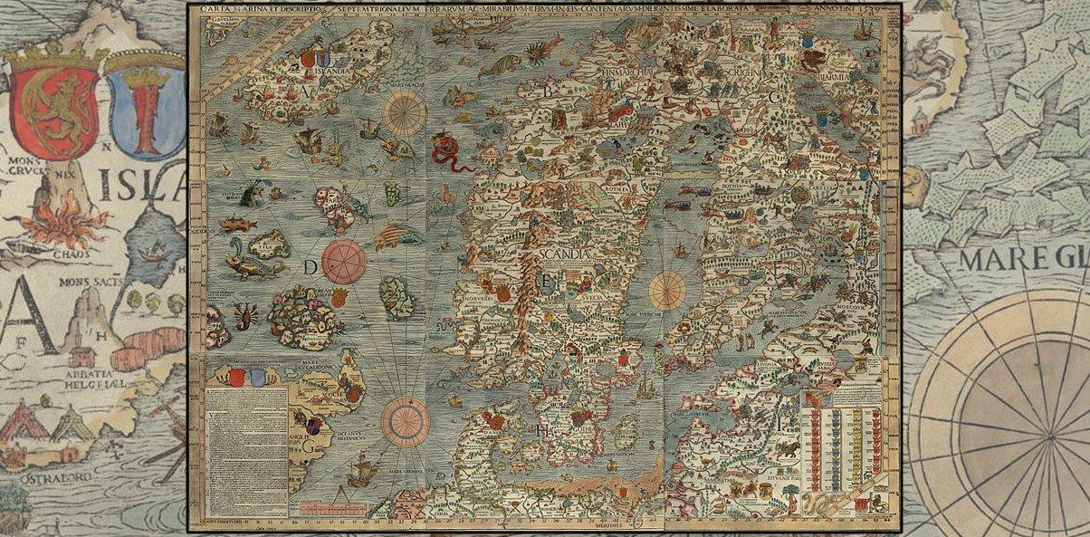 carta marina monster map
